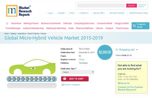 Global Micro-Hybrid Vehicle Market 2015 - 2019'