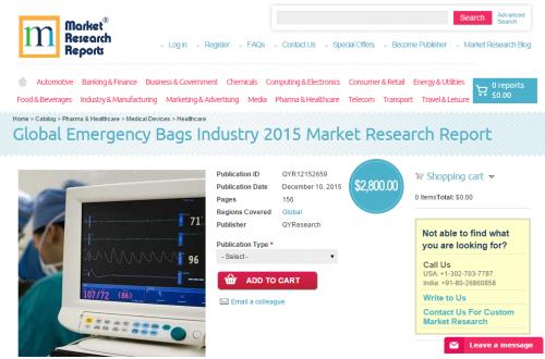 Global Emergency Bags Industry 2015'