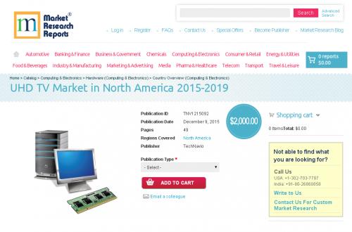 UHD TV Market in North America 2015 - 2019'