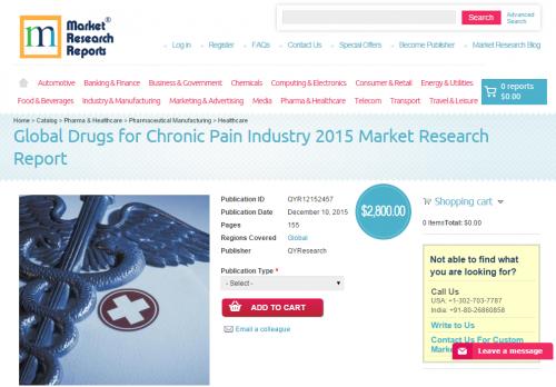 Global Drugs for Chronic Pain Industry 2015'