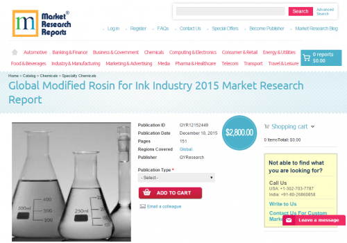 Global Modified Rosin for Ink Industry 2015'