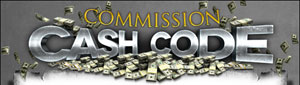commission cash code'