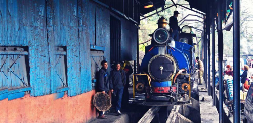 The Famous 'Toy Train' at Darjeeling'