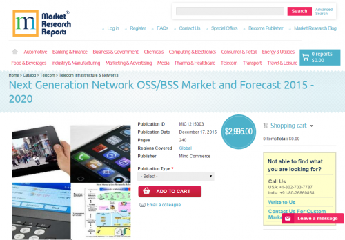 Next Generation Network OSS/BSS Market and Forecast 2015 - 2'