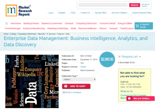Enterprise Data Management: Business Intelligence, Analytics'