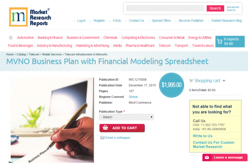 MVNO Business Plan with Financial Modeling Spreadsheet 2015'