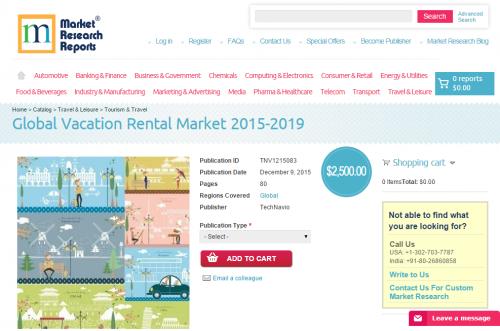 Global Vacation Rental Market 2015 - 2019'