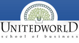 Logo for Unitedworld School of Business'