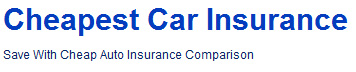 cheapest car insurance'