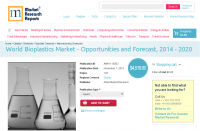 World Bioplastics Market - Opportunities and Forecast, 2014