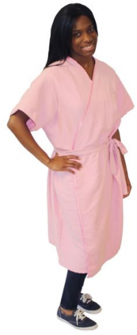 Comfort Care Pink Plush Robe-Style Gown