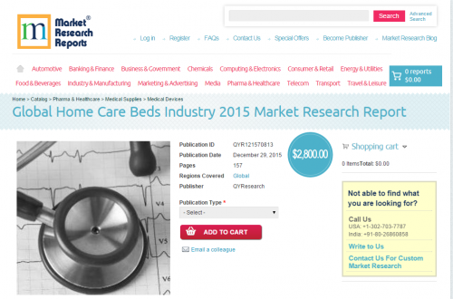 Global Home Care Beds Industry 2015'