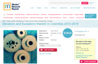 Elevators and Escalators Market in Colombia 2015 - 2019