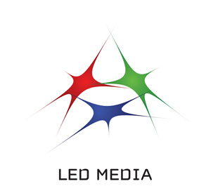 Logo for LED Media'