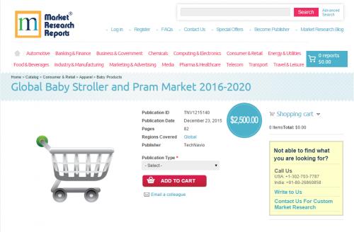 Global Baby Stroller and Pram Market 2016 - 2020'