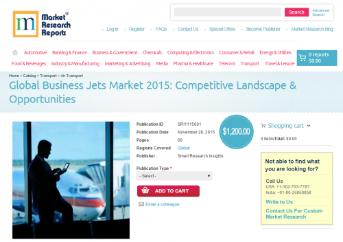 Global Business Jets Market 2015: Competitive Landscape'