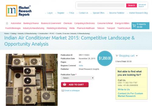 Indian Air Conditioner Market 2015: Competitive Landscape'