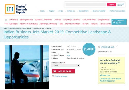 Indian Business Jets Market 2015: Competitive Landscape'
