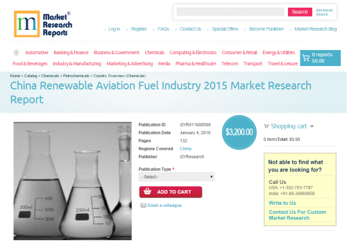 China Renewable Aviation Fuel Industry 2015'