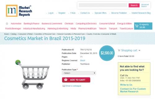 Cosmetics Market in Brazil 2015 - 2019'