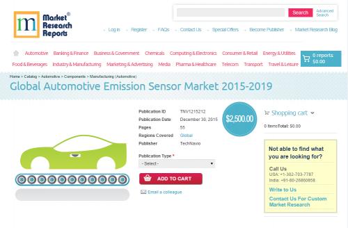 Global Automotive Emission Sensor Market 2015 - 2019'