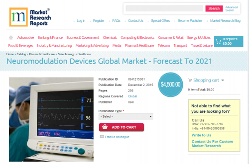 Neuromodulation Devices Global Market - Forecast To 2021'