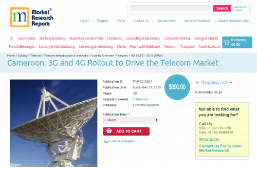 Cameroon: 3G and 4G Rollout to Drive the Telecom Market'