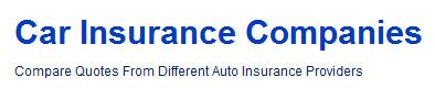 car insurance companies'