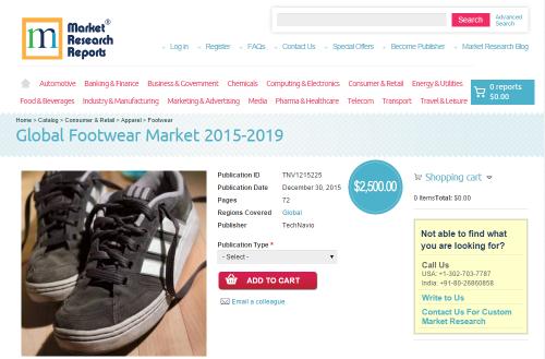Global Footwear Market 2015 - 2019'