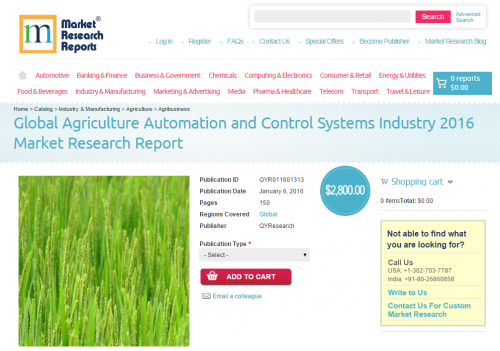 Global Agriculture Automation and Control Systems Industry'