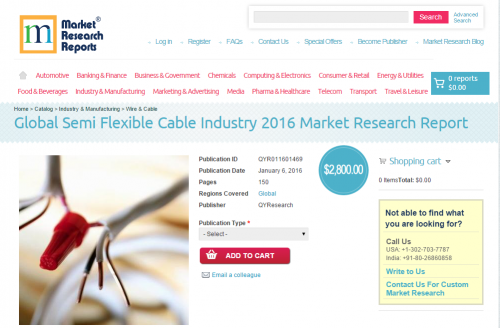 Global Semi Flexible Cable Industry 2016'