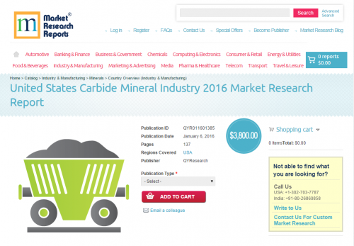 United States Carbide Mineral Industry 2016'