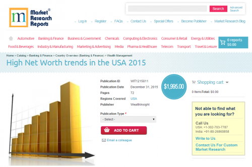 High Net Worth trends in the USA 2015'