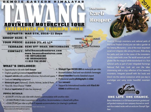 Beaux Adventures Announces Triumph Motorcycle Tour'