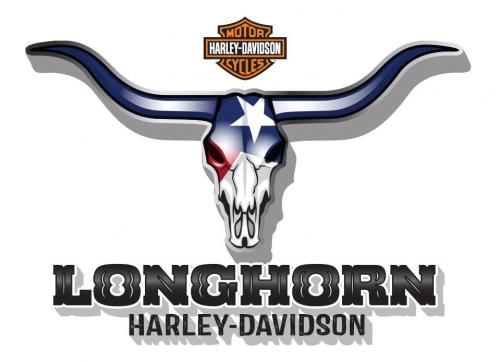 Longhorn Harley-Davidson Logo (White)'