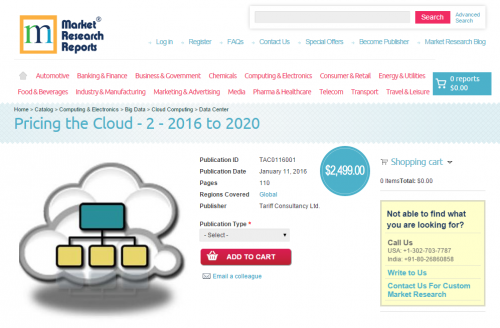 Pricing the Cloud - 2 - 2016 to 2020'