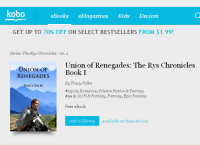 Union of Renegades enters top 100 epic fantasy at Kobo Books