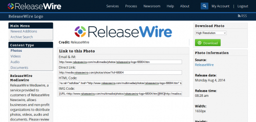 ReleaseWire MediaWire - Galleries