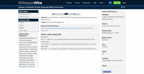 ReleaseWire MediaWire - Audio